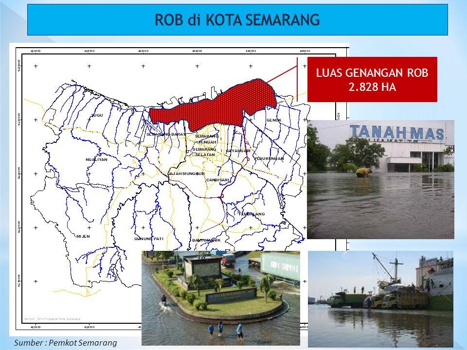 LUAS GENANGAN ROB 2.828 HA Sumber : Pemkot Semarang