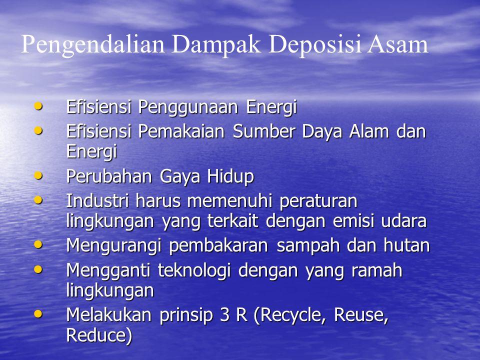 • Efisiensi Penggunaan Energi • Efisiensi Pemakaian Sumber Daya Alam dan Energi • Perubahan Gaya Hidup • Industri harus memenuhi peraturan lingkungan