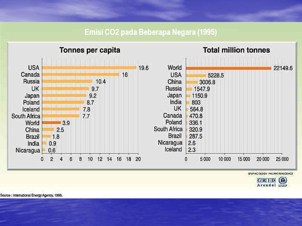 Emisi CO2 pada Beberapa Negara (1995)