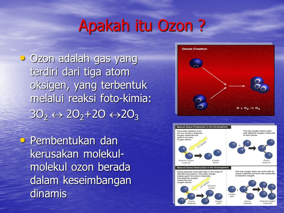 Apa yang dimaksud dengan bahan- bahan perusak lapisan ozon.