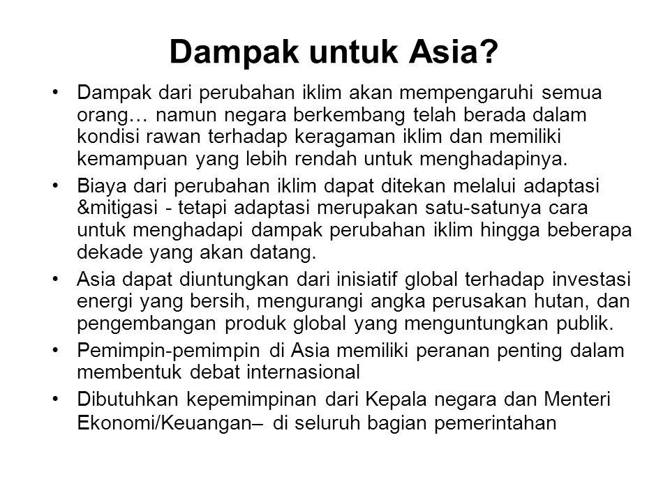 Dampak untuk Asia.
