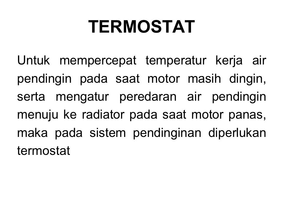 TERMOSTAT Termostat jenis bimetal