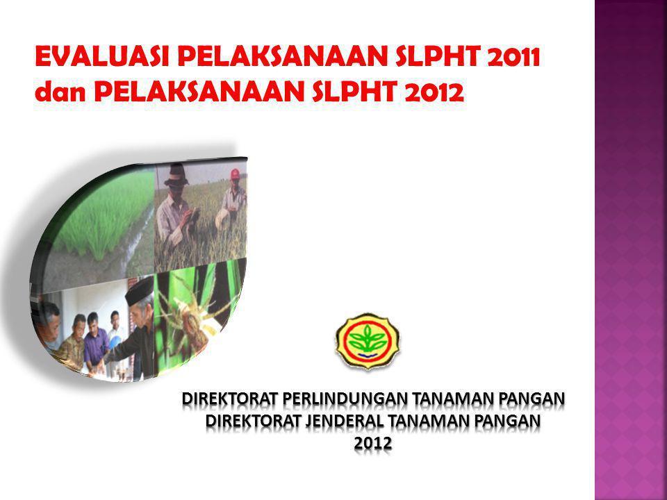 PELAKSANAAN SLPHT PANGAN TAHUN 2012 NoPropinsi SLPHT Kelompok (Unit) SLPHT Tindak Lanjut (Unit) Total Jumlah SLPHT(Unit) Target Realisasi % Target Realisasi % Target Realisasi % 1Pemerintah Aceh 82 43 52 - - - 82 43 52,44 2Sumatera Utara 88 100 22 100 110 100,00 3Sumatera Barat 61 100 15 13 87 76 74 97,37 4R i a u 24 6 25 6 - - 30 6 20,00 5J a m b i 36 2 6 8 - - 44 2 4,55 6Sumatera Selatan 52 50 96 13 12 92 65 62 95,38 7Bengkulu 24 17 71 5 - - 29 17 58,62 8Lampung 52 100 13 100 65 100,00 9Kep.