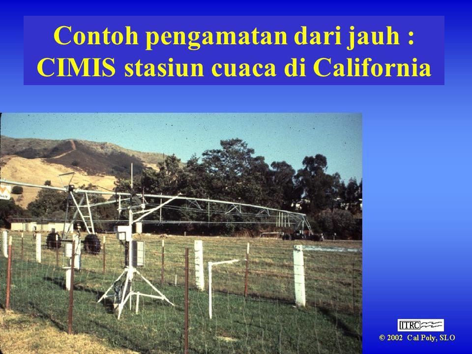 Contoh pengamatan dari jauh : CIMIS stasiun cuaca di California
