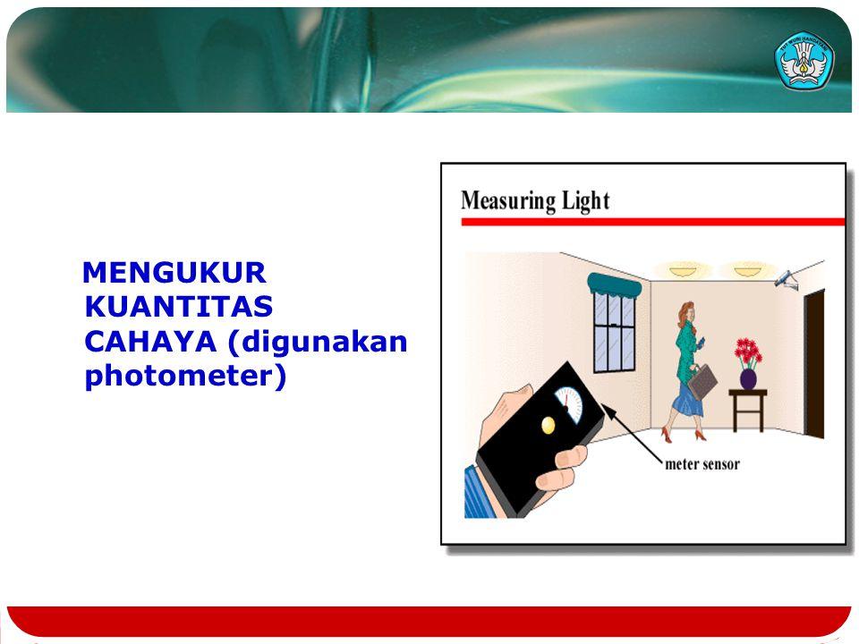MENGUKUR KUANTITAS CAHAYA (digunakan photometer)