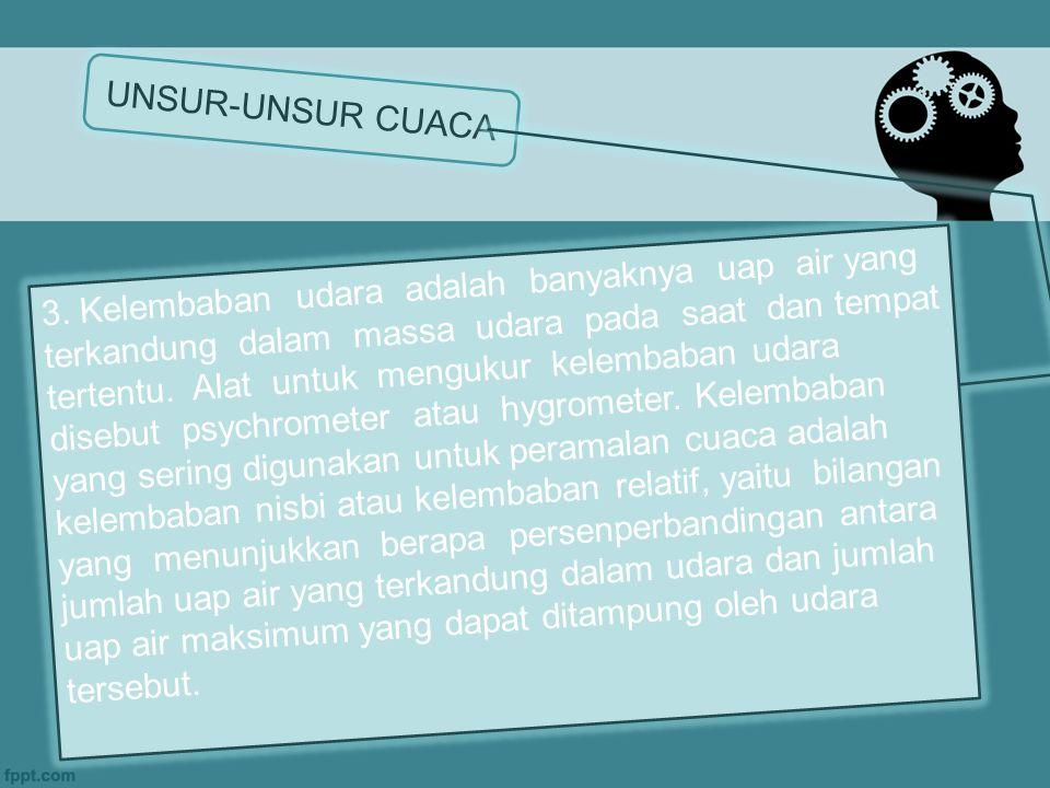 UNSUR-UNSUR CUACA 3.