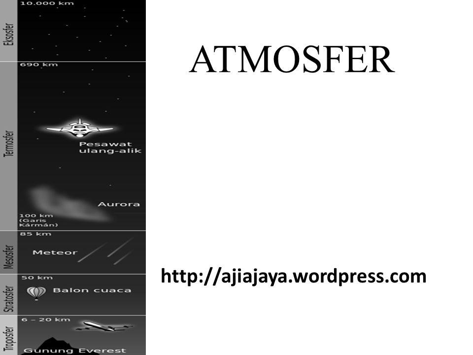 Mengenal Atmosfer • Atmosfer adalah lapisan udara yang menyelimuti bumi, dipertahankan oleh gravitasi, dan digunakan untuk melindungi bumi.