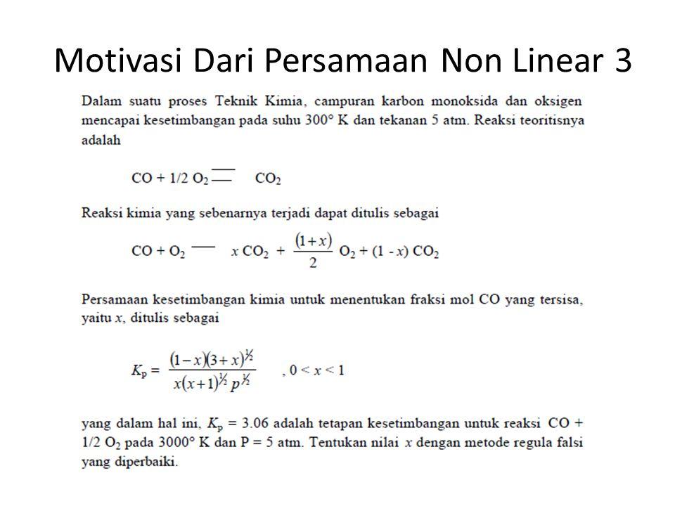 Motivasi Dari Persamaan Non Linear 3