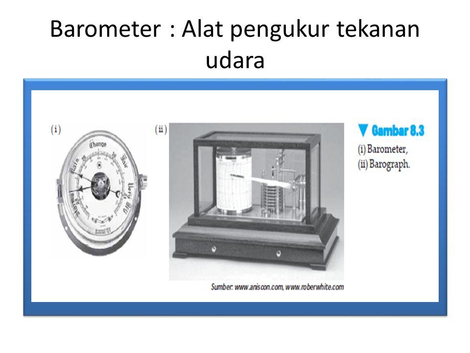 Barometer : Alat pengukur tekanan udara
