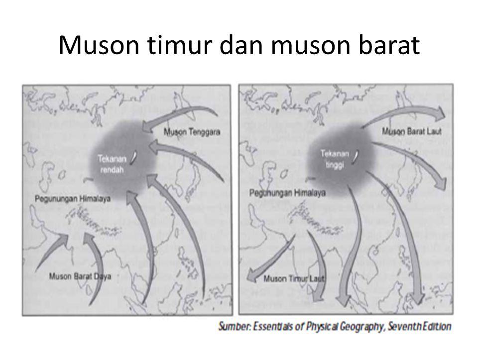 Muson timur dan muson barat