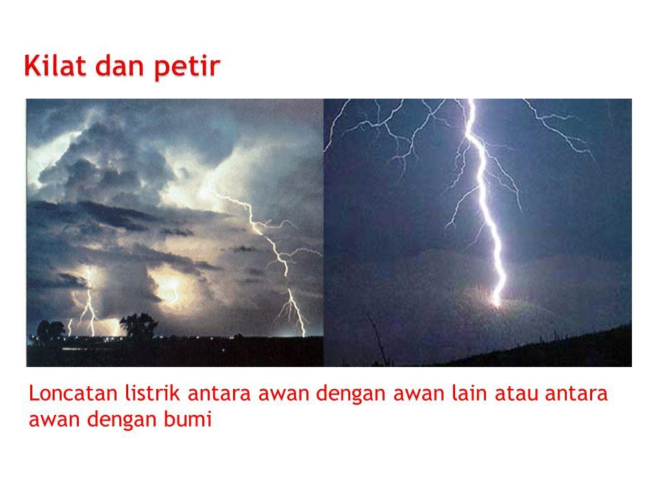 Loncatan listrik antara awan dengan awan lain atau antara awan dengan bumi
