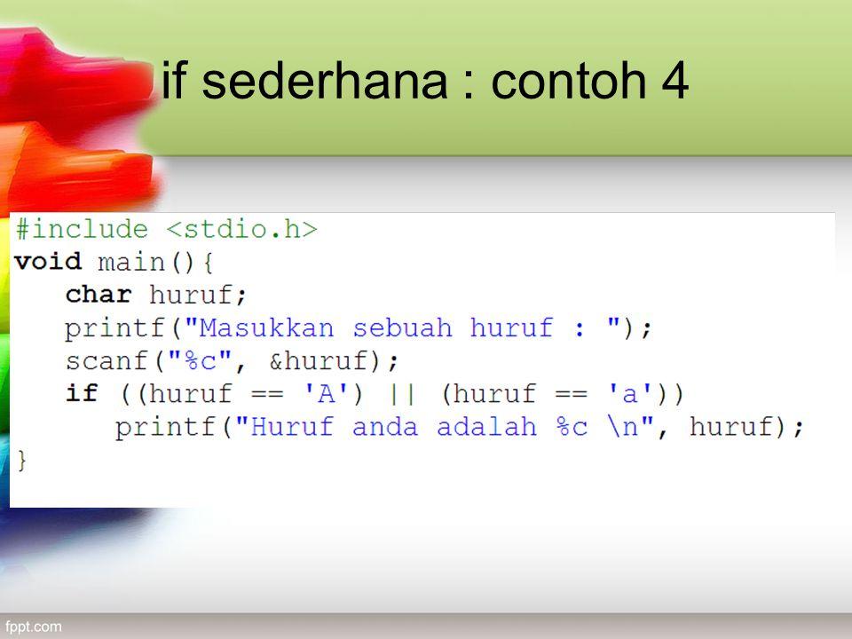 if sederhana : contoh 4