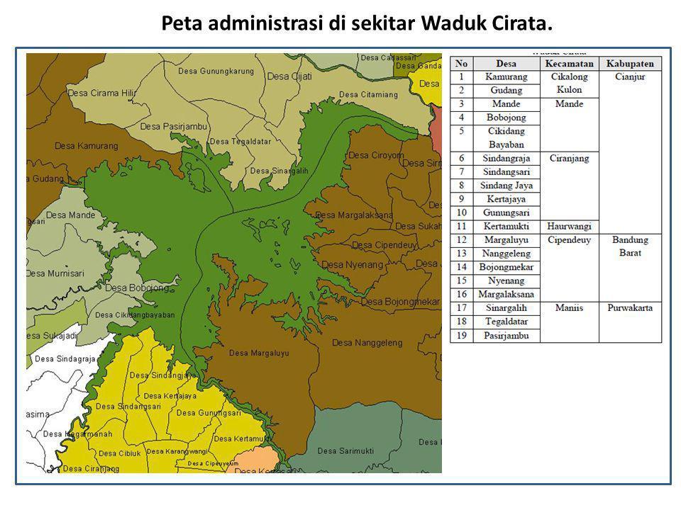 Peta administrasi di sekitar Waduk Cirata.