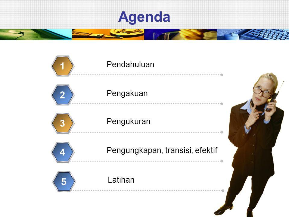 Agenda Pendahuluan 1 Pengakuan 2 Pengukuran 3 Pengungkapan, transisi, efektif 4 Latihan 5