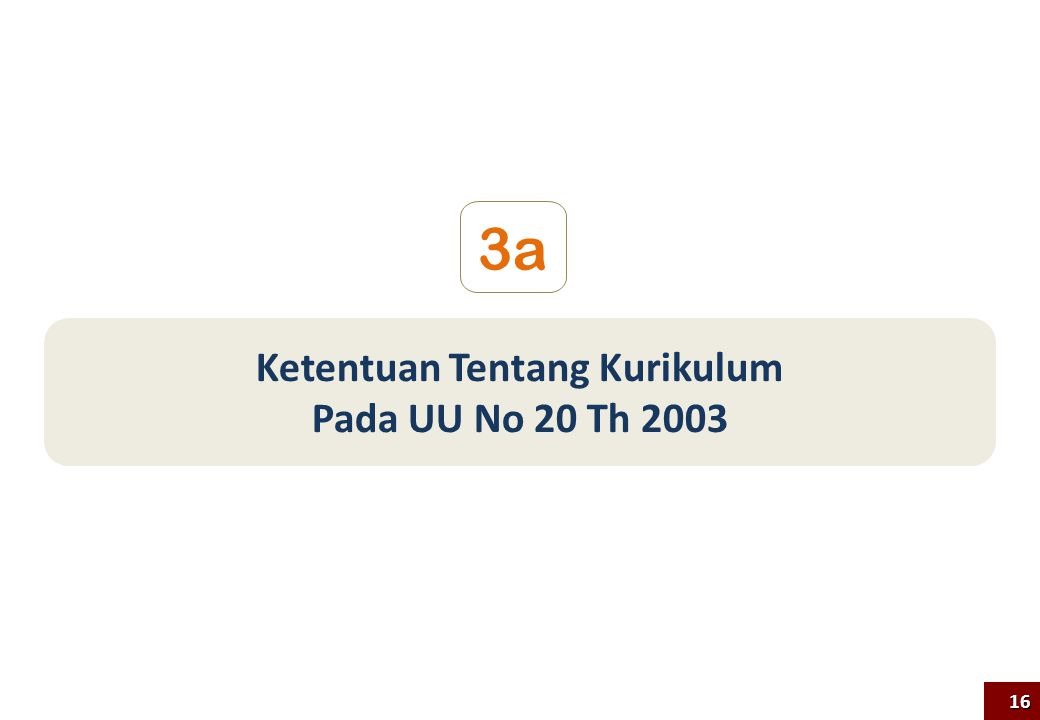 Ketentuan Tentang Kurikulum Pada UU No 20 Th 2003 3a 16
