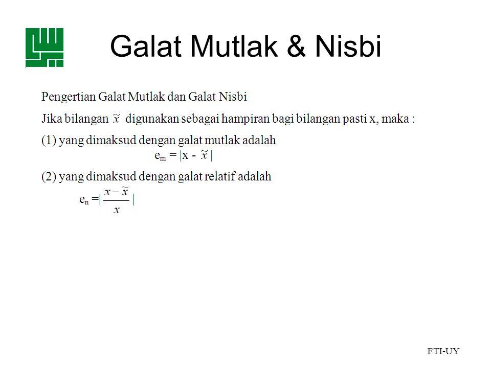 FTI-UY Galat Mutlak & Nisbi