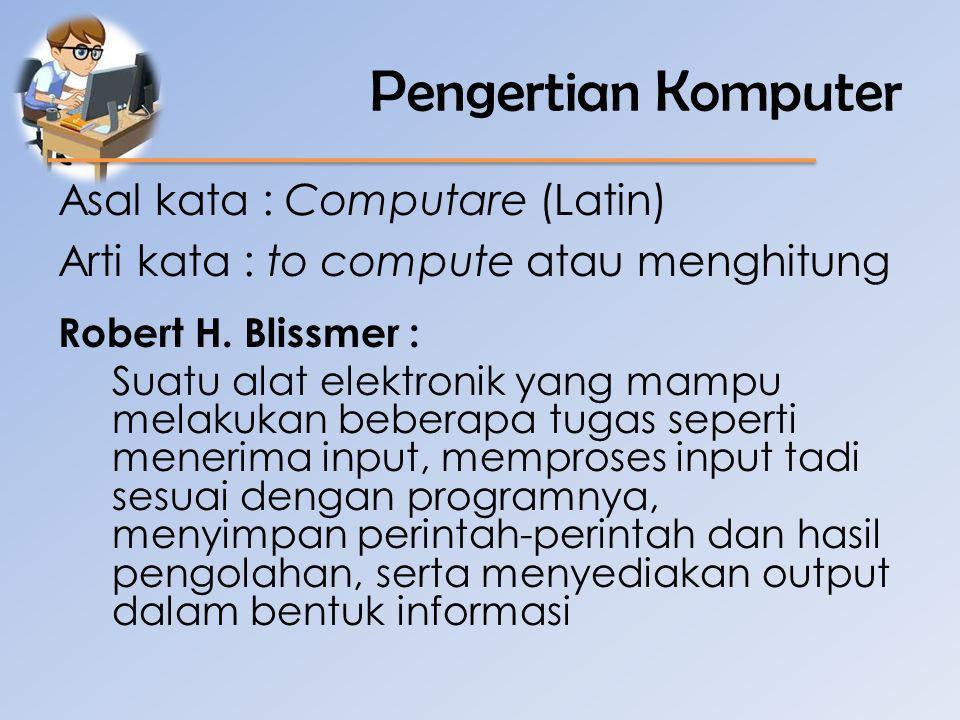 Pengertian Komputer Donald H.