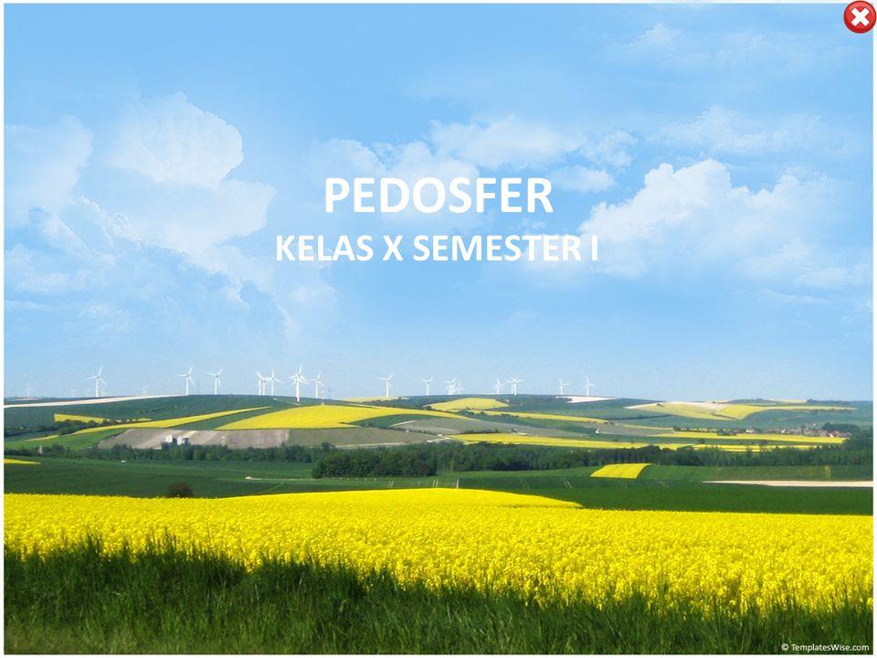 PEDOSFER KELAS X SEMESTER I