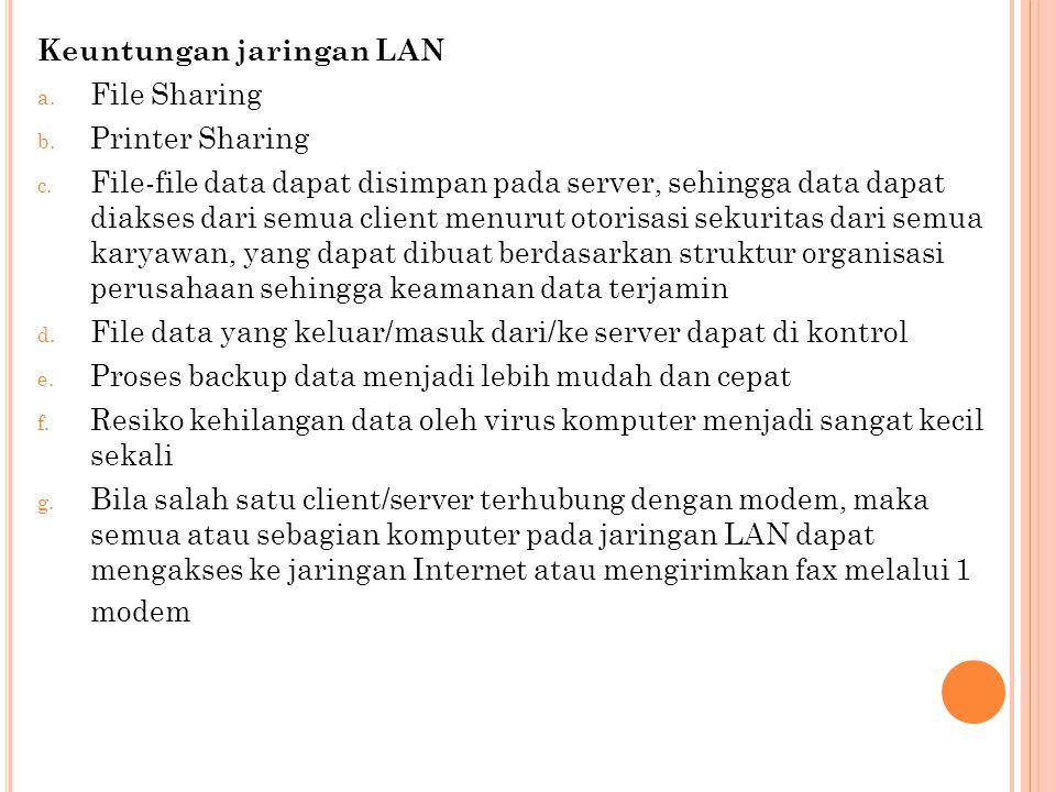 LAN tersusun dari beberapa elemen dasar yang meliputi komponen hardware : Komponen Fisik (Hardware)  Personal Computer (PC).