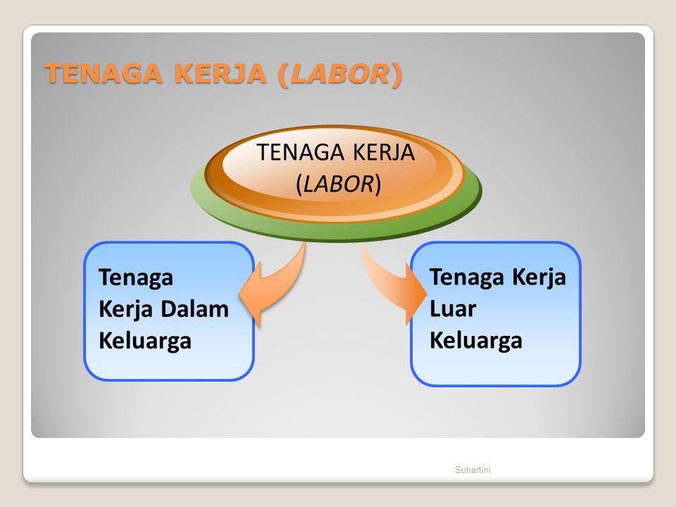 TENAGA KERJA (LABOR) Suhartini Tenaga Kerja Luar Keluarga Tenaga Kerja Dalam Keluarga TENAGA KERJA (LABOR)