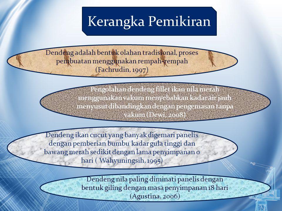 Pengolahan dendeng fillet ikan nila merah menggunakan vakum menyebabkan kadar air jauh menyusut dibandingkan dengan pengemasan tanpa vakum (Dewi, 2008