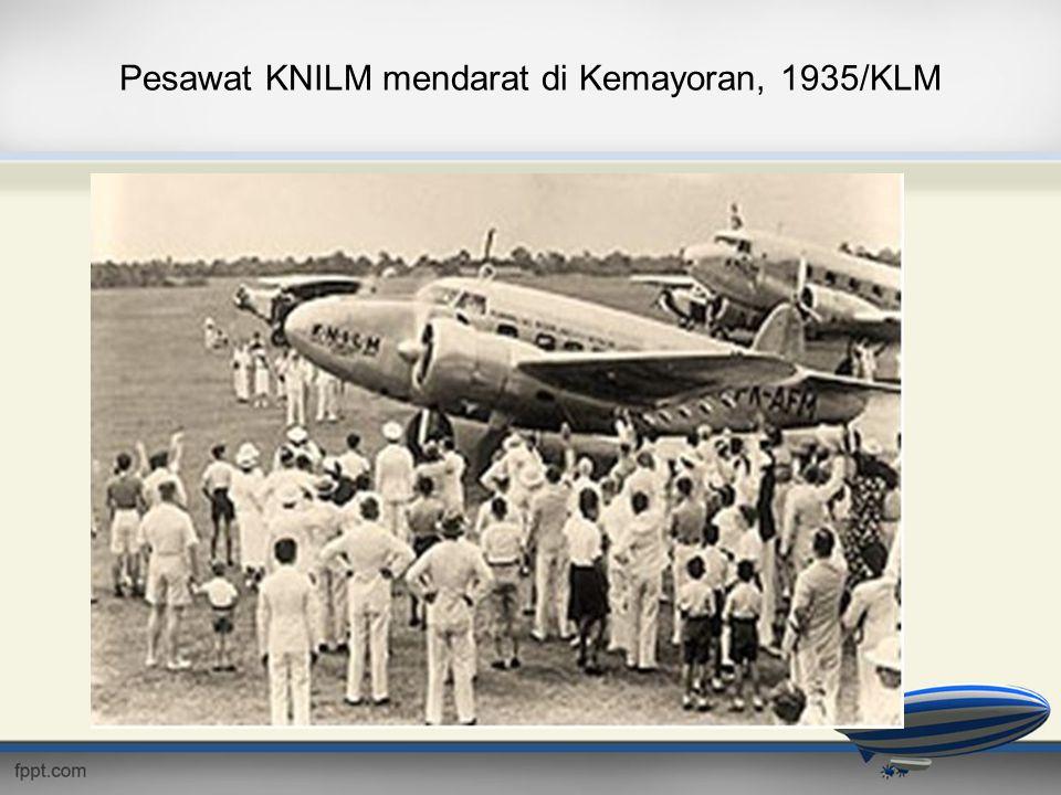 Pesawat KNILM mendarat di Kemayoran, 1935/KLM