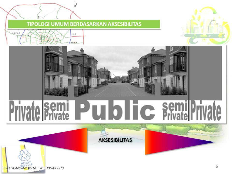 PERANCANGAN KOTA – JP – PWK.FT.UB 7 PUBLIK SEMI - PUBLIK SEMI - PRIVATPRIVAT BIDDULPH. 2007