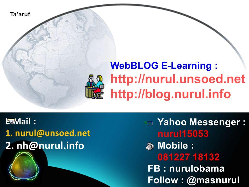 E-Mail : 1. nurul@unsoed.net 2.