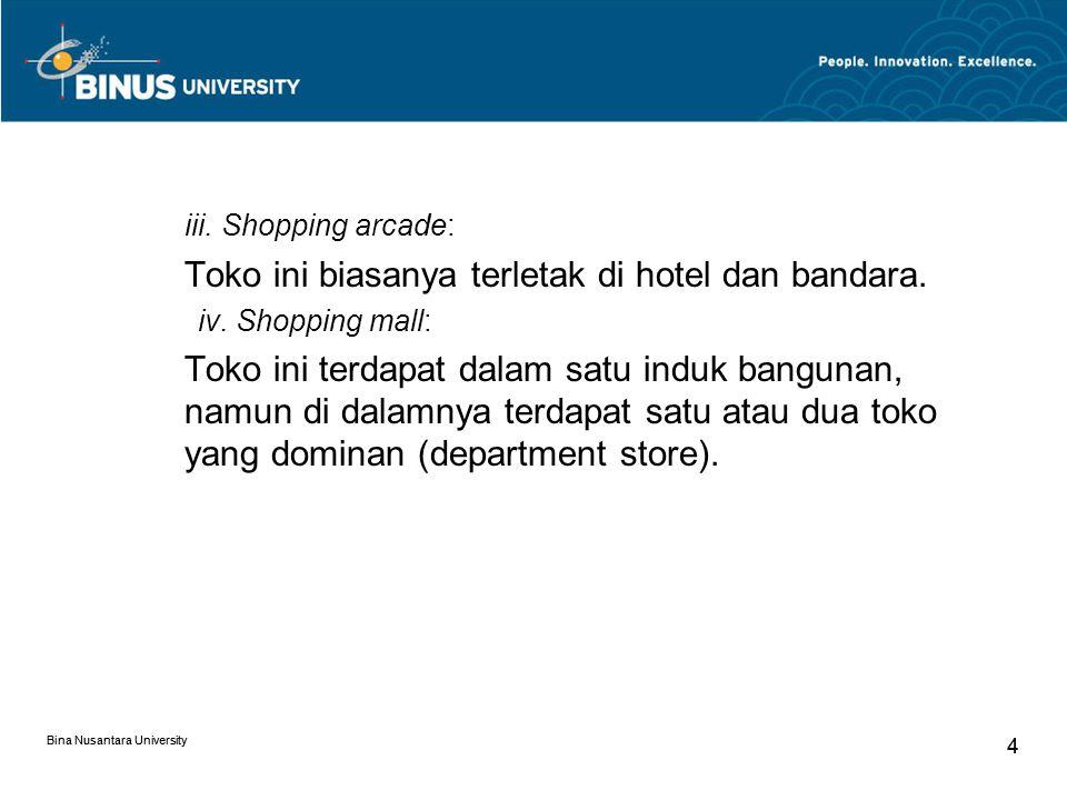 Bina Nusantara University 15