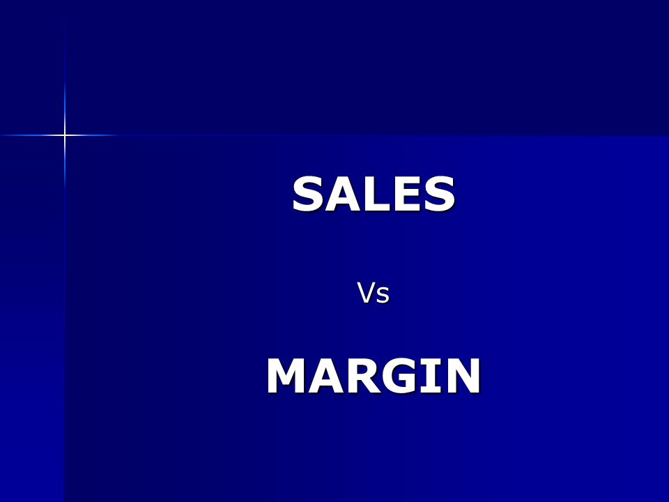 SALESVsMARGIN