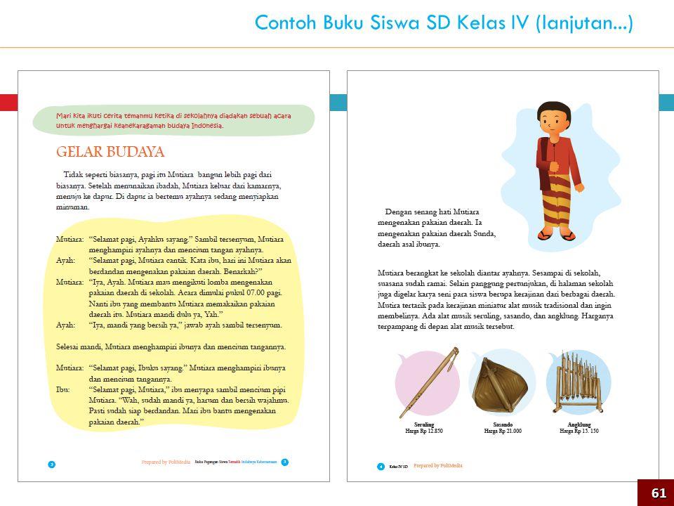 61 Contoh Buku Siswa SD Kelas IV (lanjutan...)