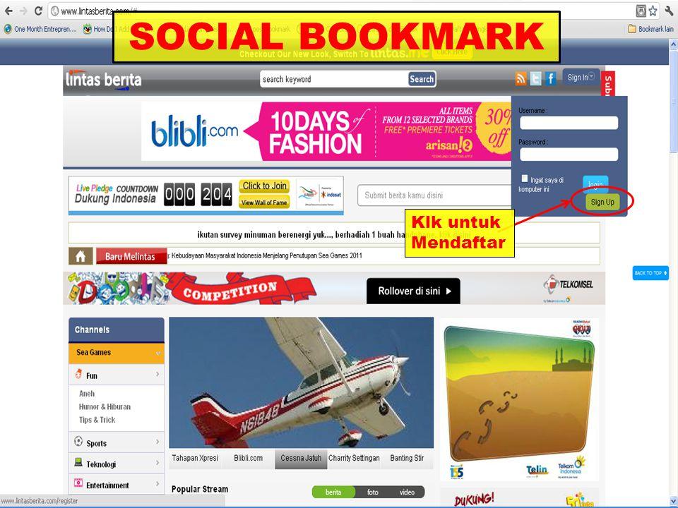 SOCIAL BOOKMARK Klk untuk Mendaftar
