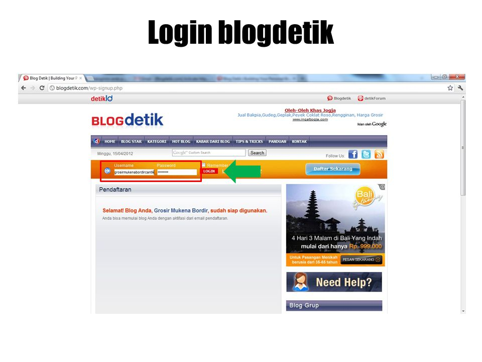 Login blogdetik
