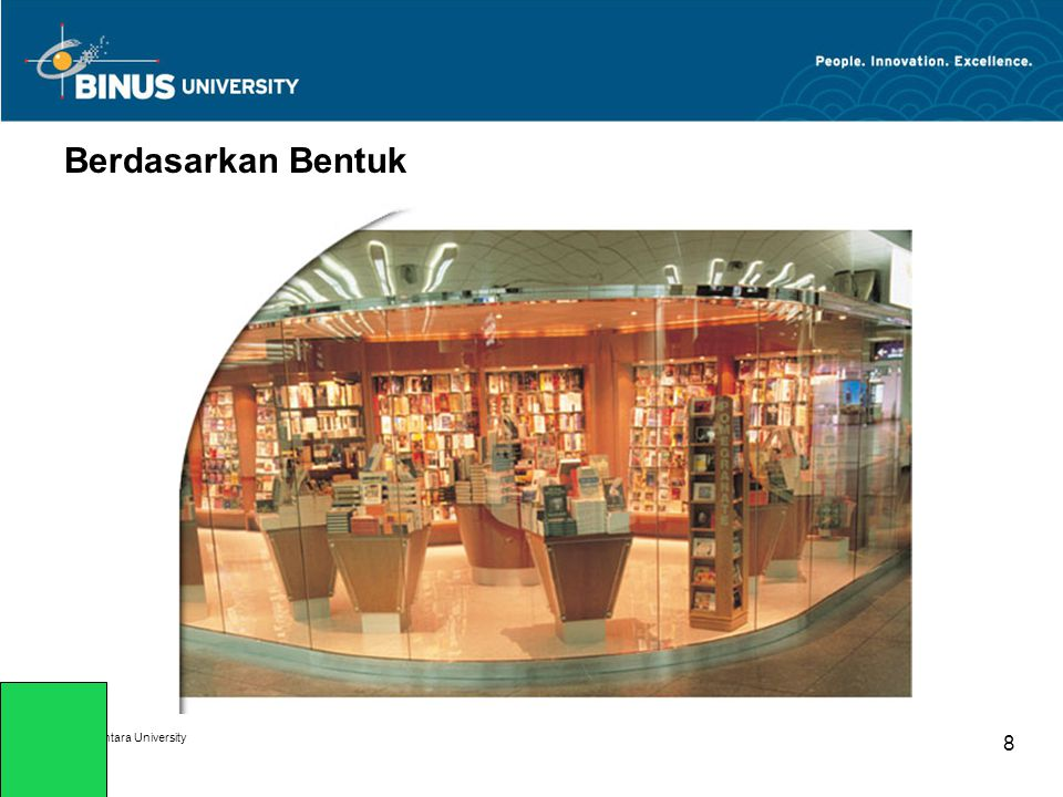 Bina Nusantara University 8 Berdasarkan Bentuk