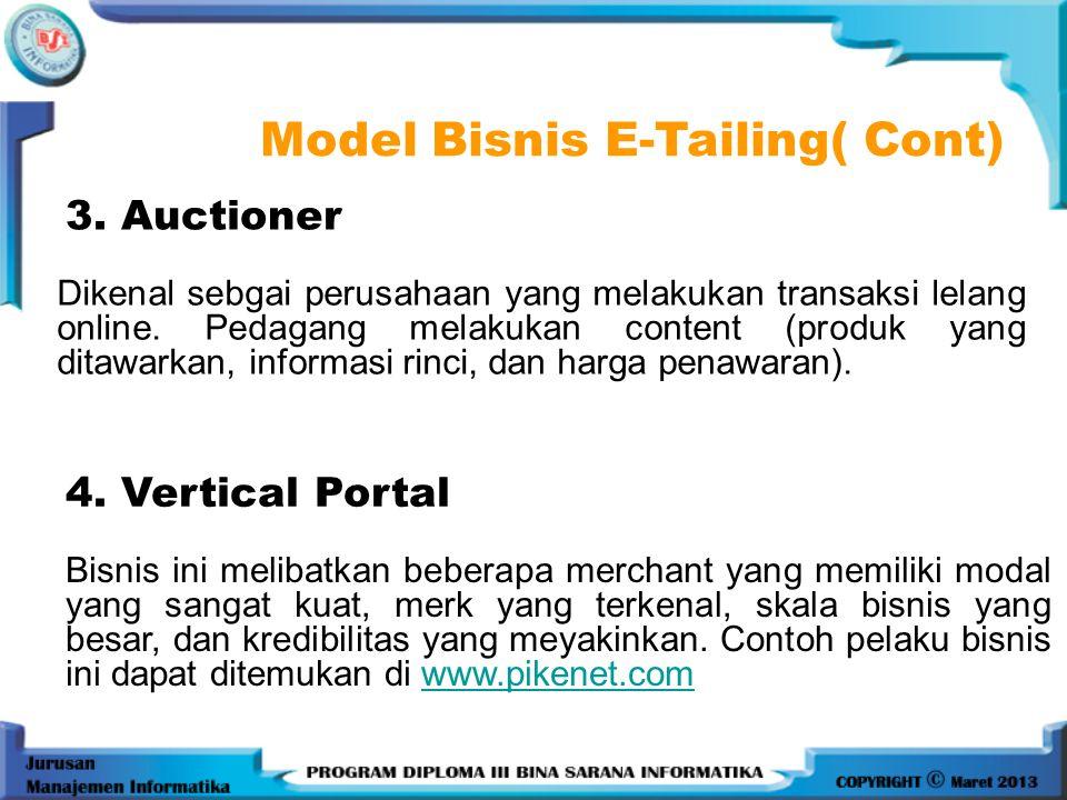 3.Auctioner Dikenal sebgai perusahaan yang melakukan transaksi lelang online.