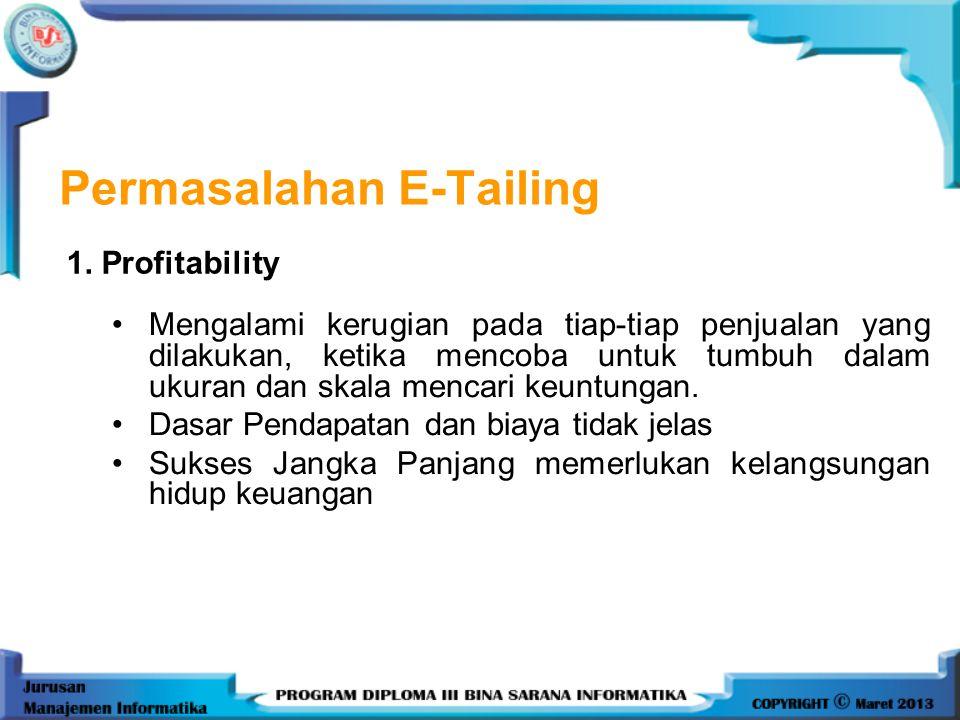 •Mengalami kerugian pada tiap-tiap penjualan yang dilakukan, ketika mencoba untuk tumbuh dalam ukuran dan skala mencari keuntungan.
