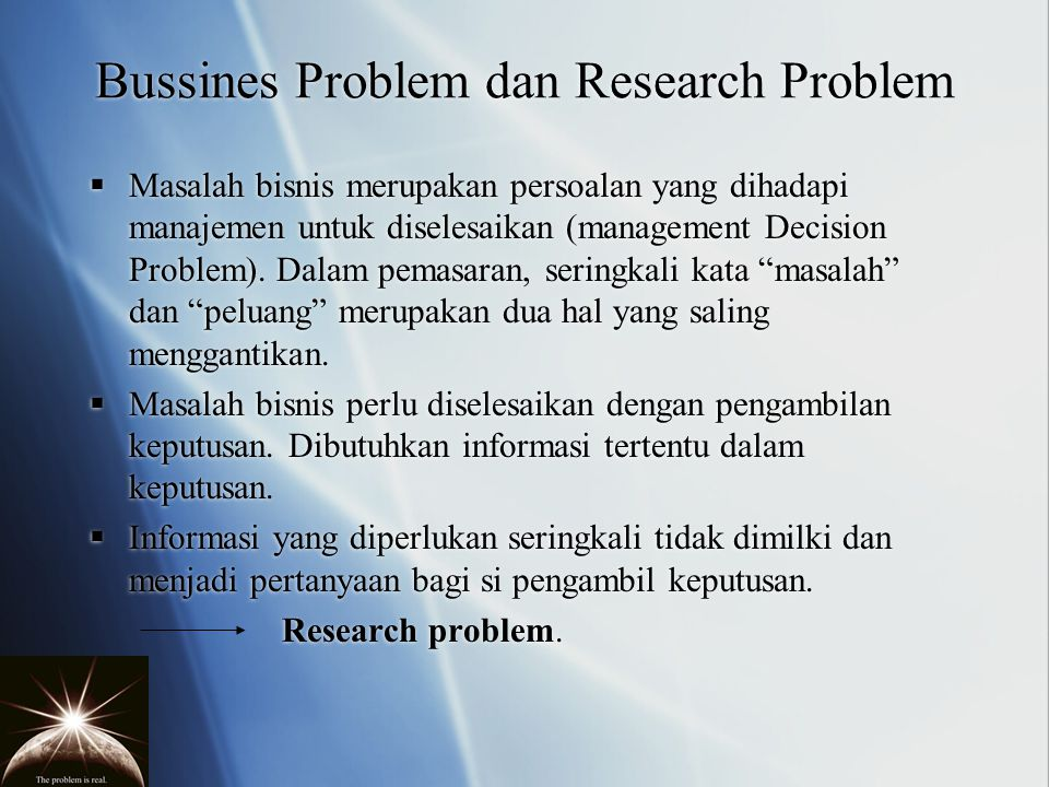 DEVELOPING AN APPROACH TO THE PROBLEM: