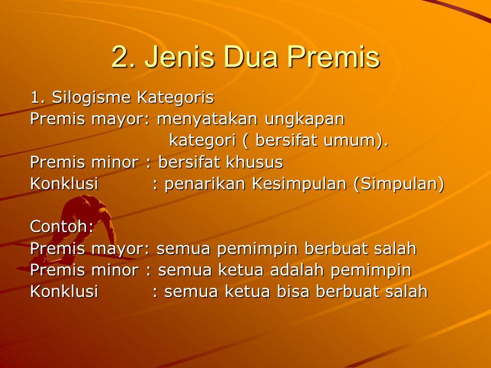 2.Jenis Dua Premis 1.