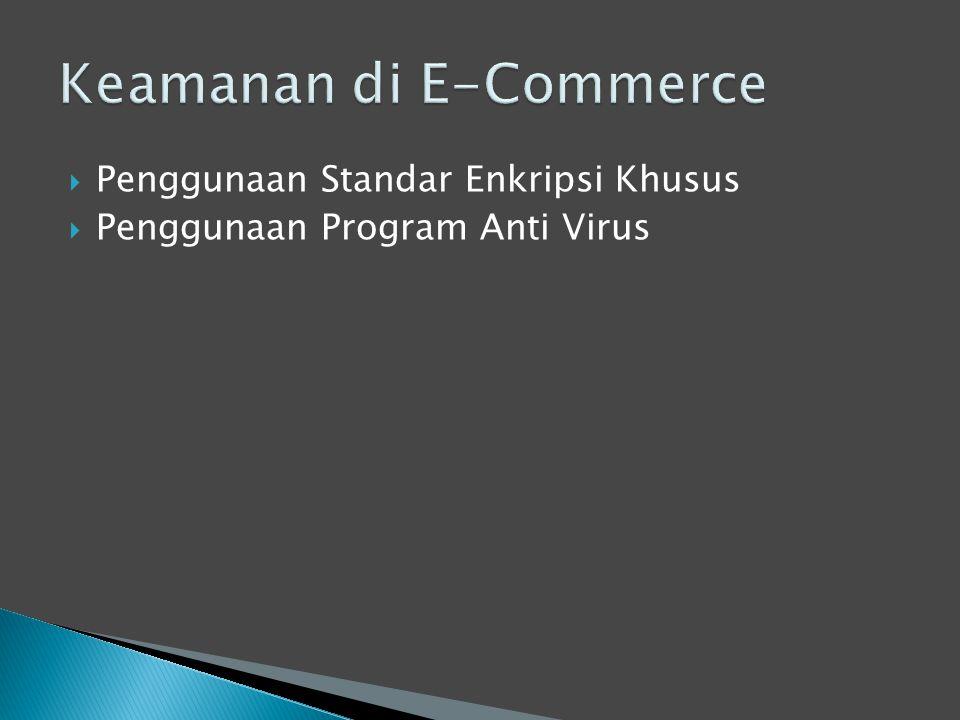  Penggunaan Standar Enkripsi Khusus  Penggunaan Program Anti Virus
