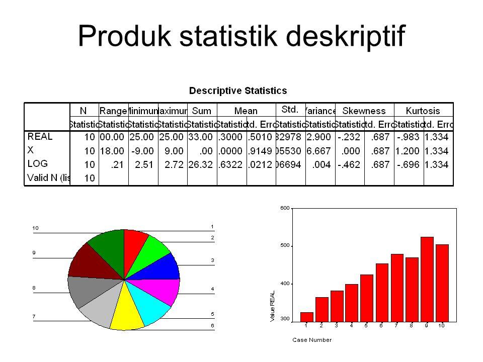 Produk statistik deskriptif