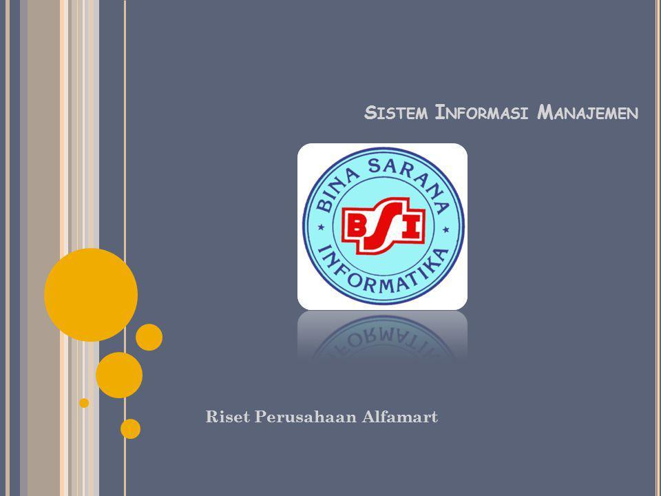 S ISTEM I NFORMASI M ANAJEMEN Riset Perusahaan Alfamart