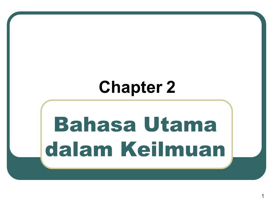 Bahasa Utama dalam Keilmuan Chapter 2 1