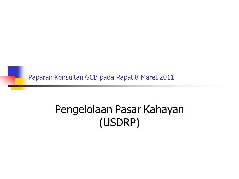Paparan Konsultan GCB pada Rapat 8 Maret 2011 Pengelolaan Pasar Kahayan (USDRP)