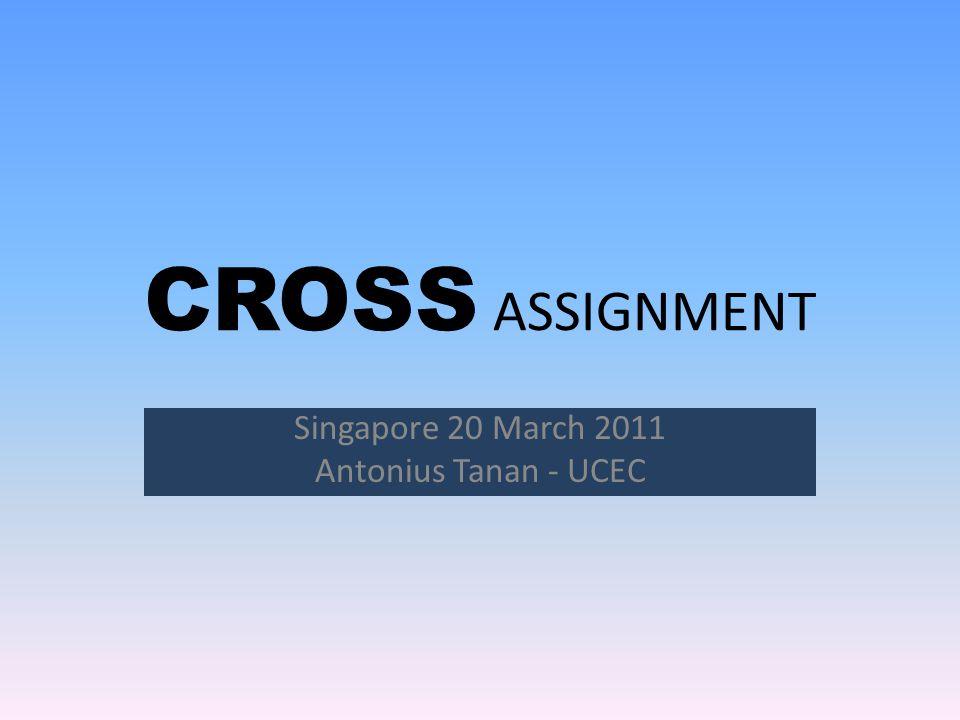 CROSS ASSIGNMENT Singapore 20 March 2011 Antonius Tanan - UCEC