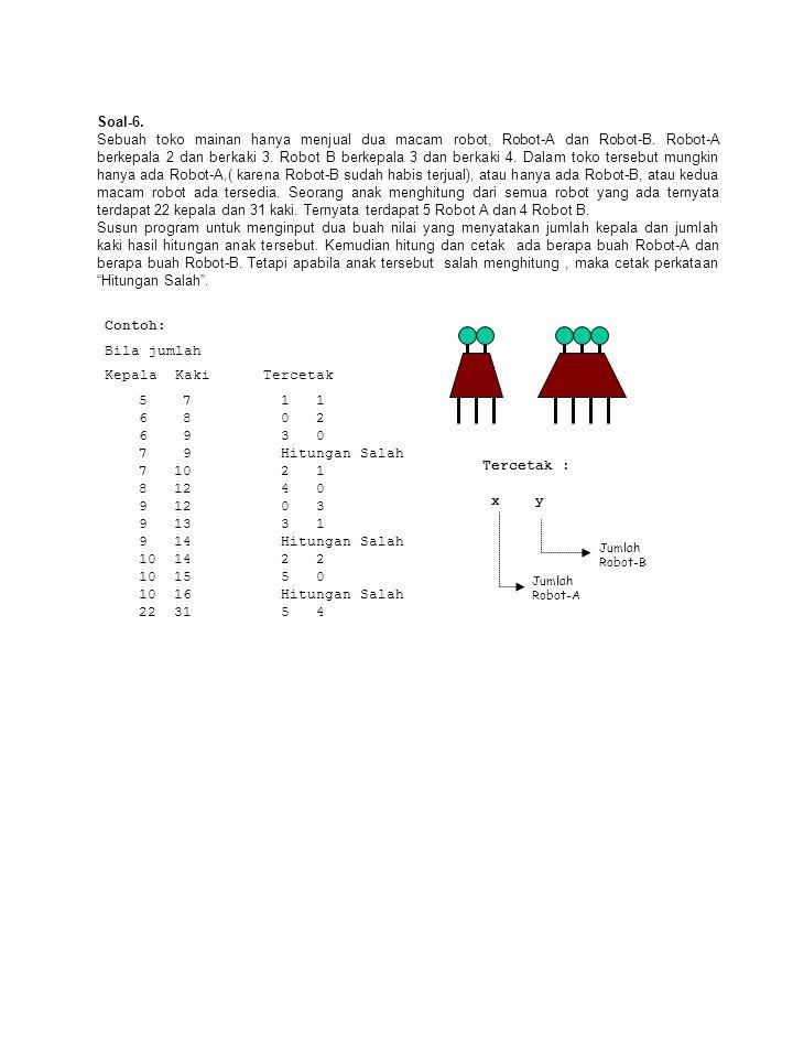 Soal Susun program untuk menginput sebuah nilai integer (misal X) lebih kecil dari 100.