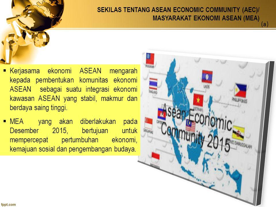 SEKILAS TENTANG ASEAN ECONOMIC COMMUNITY (AEC)/ MASYARAKAT EKONOMI ASEAN (MEA) (b)