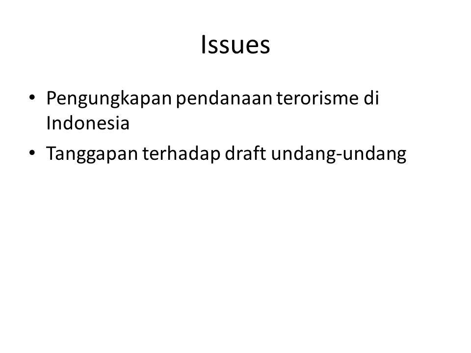 Pendanaan Terorisme di Indonesia • Sumber dari al Qaeda • Kejahatan /Fa'i • Donatur anggota