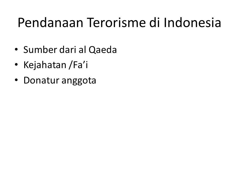 Sumber al Qaeda • Kasus bom Kedubes Filipina Agustus 2000 • Kasus bom malam Natal 30 gereja di 11 kota tahun 2000 • Kasus bom Bali 1 tahun 2002 • Kasus bom JW Mariott Jakarta tahun 2003