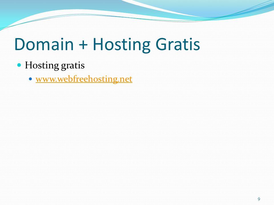 Domain + Hosting Gratis  Hosting gratis  www.webfreehosting.net www.webfreehosting.net 9