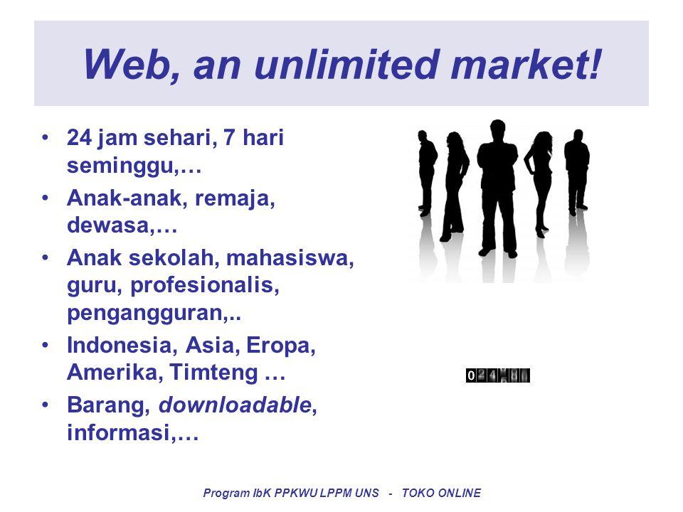 It's an unlimited opportunities.•Kerja dari rumah .